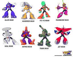 Megaman Robot Masters Two Mega Man 10 Characters That