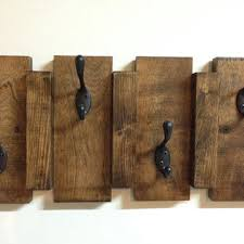 Wood Wall Mounted Coat Rack Fascinating Rustic Wood Wall Mount Coat Hook Rack From TreetopWoodworks On