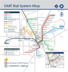 official map dallas dart light rail system hot  transit maps