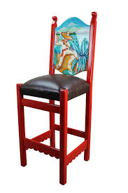 image rustic mexican furniture. Mexican Painted Tables | Rustic Bar Stool Furniture Image D