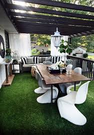 outdoor decor with artificial grass