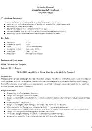 Video Resume Format Different Resume Formats Experience Different