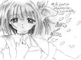 Dessins Gratuits Colorier Coloriage Fille Manga Imprimer Avec Dessin