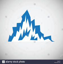 Blue Mountains Web Design Mountain Icon Blue On White Background For Graphic And Web