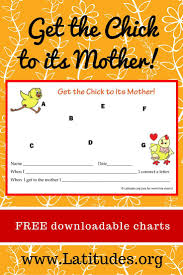 Free Behavior Chart For Single Behaviors Chick To Its