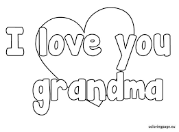 Small Picture I love you grandma coloring page Pre K Pinterest