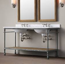 double console sink. Modren Console Sink Console U2013 3299 Faucets Not Included  Restoration Hardware   Dutch Industrial Double Washstand Reg 3095 Special 1915 2785 For