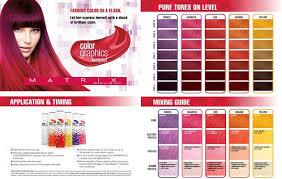 Socolor Red Color Chart Matrix Color Graphics Color Chart In 2019 Matrix Hair