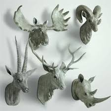 animal head wall decor animal bust deer rhino bust buck antelope animal head wall decor target