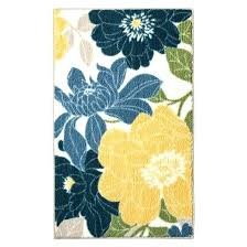 red blue yellow rug blue and yellow rug spring fl kitchen rug blue threshold target intended