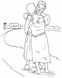 Beautiful Prodigal Son Coloring Page 41 In Free Colouring Pages