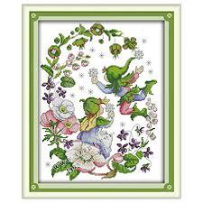 March Flower Faerie Free Cross Stitch Charts Frames X