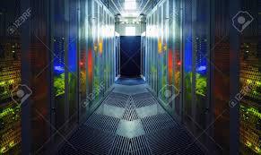 Data Center Lighting Design Communication Equipment Room With Lighting In Data Center