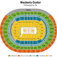 76ers Arena Seating Chart 23 Actual Wachovia Arena Philadelphia Seating Chart