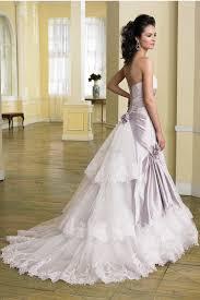 Fancy Light Purple Silk Wedding Dress With Glistening Detailed