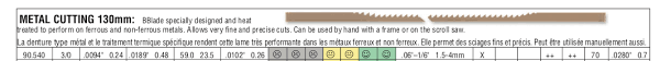 Pegas 90 540 Scroll Saw Blades Metal Cutting No 3 0 59 Tpi 1 Dozen