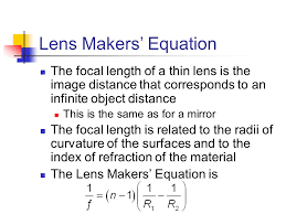 54 lens makers equation