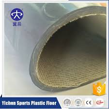 bottom self adhesive pvc floor top quality pvc roll commercial vinyl flooring yichen sports