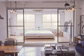 Minimalist Tokyo Loft With Industrial Touches Interior Decorating Magnificent 1 Bedroom Loft Minimalist Collection