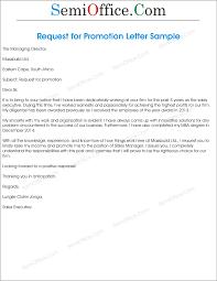 Cover Letter Sample For Job Promotion Tomyumtumweb Com