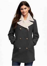 double ted wool blend peacoat for women