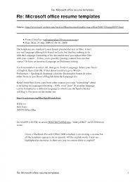 Microsoft Resume And Cv Templates Curriculum Vitae Download Office