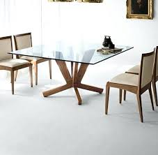 glass top dining table with wood base set wooden oval room tables to revamp from rectangle
