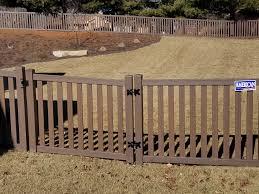 Beautiful Chestnut Brown Woodland Select Fence AmeriFence