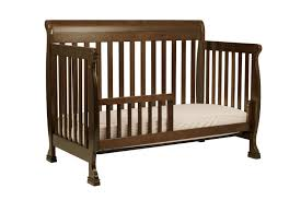 image of rustic toddler bed safety rails