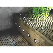 decking lighting. lap apollo led deck light kit polished stainless steel white 005w 10 pack garden lights screwfixcom decking lighting d