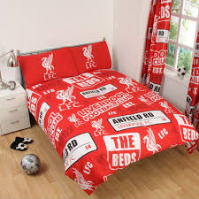Liverpool Wallpaper For Bedroom Football Team Single Amp Double Duvet Cover Sets Arsenal Man U