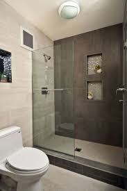 small modern bathrooms ideas. Niche Wall Design Ideas With Tile Also Glass Shower Door For Modern Bathroom Decor Plus Walk In Small Bathrooms R