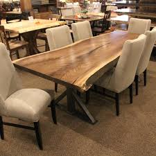 the irondale acacia wood dining table provides a modern industrial piece for your dining room home bar or entertainment loft