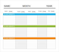 Microsoft Word Schedule Templates Sample Weekend Schedule 6 Documents In Word Pdf