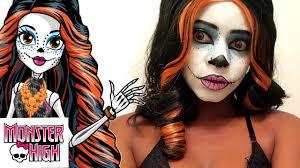 skelita calaveras monster high makeup tutorial