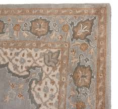 new traditional handmade wool area rug royal persian blue brown and rugs plush for living room leather distressed faux red oriental s