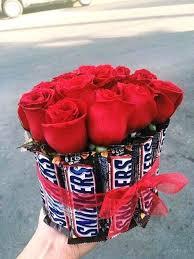 Valentines Day Ideas For Girlfriend Flower Bouquet Ideas For Girlfriend Roses Chocolate Snickers