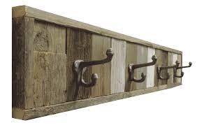 hook towel rack reclaimed barnwood