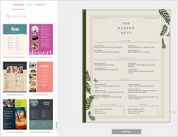 Online Menu Design Software Fine Dining Menu Creator Full Color Menus Musthavemenus