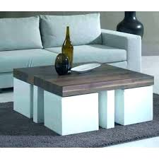 coffee table nested stools coffee tables with stools underneath coffee table with chairs underneath outstanding round