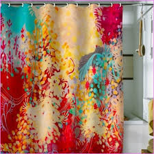 colorful shower curtains. Elegant Colorful Printed Shower Curtain Draping Ideas Trends4us Teal Colored Curtains C