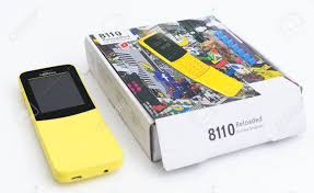 A Retro Vintage Yellow Nokia 8110 ...