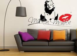 Interior Home Decoration Ideas Using Blank Wall Decoration With Marilyn Monroe Living Room Decor