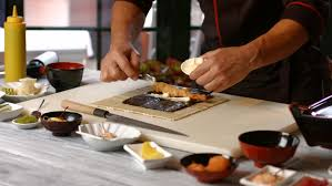 Sushi Cook Male Hands Making Sushi Rolls Stock Footage Video 100 Royalty Free 16810837 Shutterstock