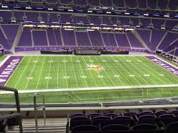 U S Bank Stadium Section 342 Row E Seat 25 Minnesota