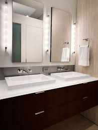 n street residence trendy bathroom photo in dc metro with a vessel sink flat panel cabinets amazing contemporary bathroom vanity lighting 3