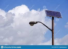 Light Poles California Solar Powered Street Light Pole San Jose California Stock