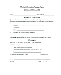 Medical Release Form Sample Classy Release Of Information Form Template