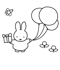 Image Result For Miffy Colour In With Balloons Crafting Coloring