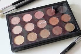 mac eye shadow x15 warm neutral palette review swatches